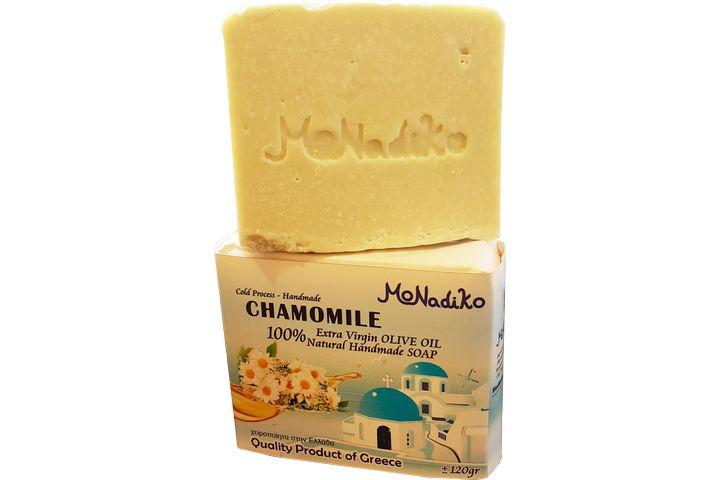 【120克】希臘MoNadiko 100%冷壓橄欖油手工香皂★眾神母后赫拉★洋甘菊