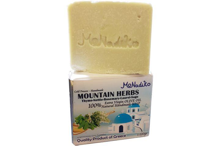 【120克】希臘MoNadiko 100%冷壓橄欖油手工香皂★豐收女神狄蜜特★花草皂