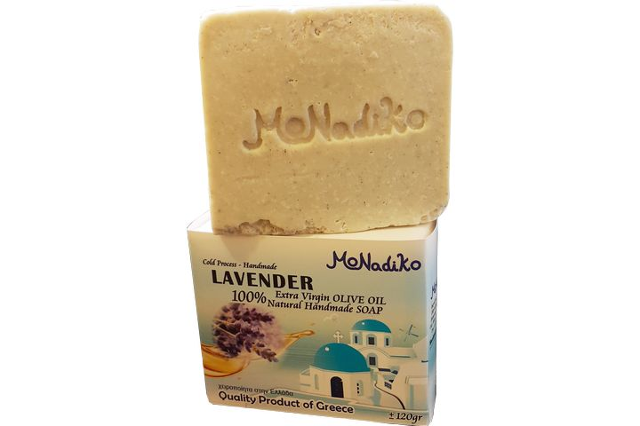 【120克】希臘MoNadiko 100%冷壓橄欖油手工香皂★太陽神阿波羅★薰衣草皂