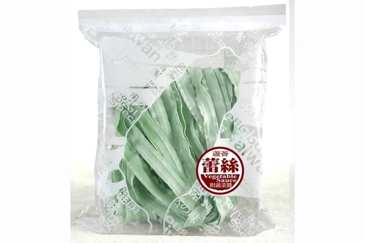 蘆薈蕾絲麵方便包/紫地瓜+綠藻(蔬菜醬乾拌麵)-1人份